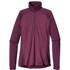 Women's Merino 2 Lightweight Zip-Neck features Patagonia's most versatile merino baselayer fabric.   #ecoactiveyou #organic_clothing_brands