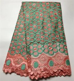 Best African Lace Fabric 2017 green Embroidered Nigerian Laces Fabric Bridal High Quality French Tulle Lace Fabric For Women  #Affiliate