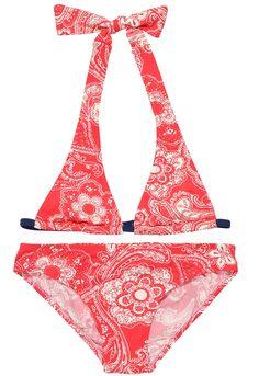 Shop At Stella Cove   Paisley Red Bikini For Girls