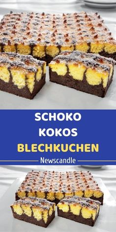 Cake Recipes Easy Chocolate Baking - New ideas Easy Chocolate Desserts, Chocolate Cake Recipe Easy, Chocolate Recipes, Easy Cupcake Recipes, Quick Dessert Recipes, German Baking, Best Cookies Ever, Sheet Cake Recipes, Food Cakes