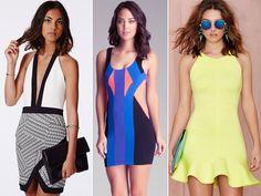 Saias e vestidos de neoprene estampados perfeitos! Veja como usar Neoprene: Mostramos diversas fotos de looks incríveis para copiar!