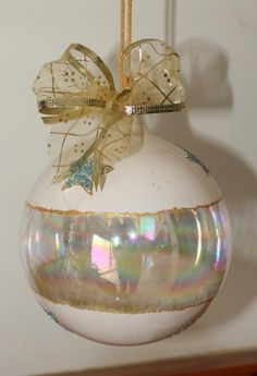 ivory christmas baubles - Google Search