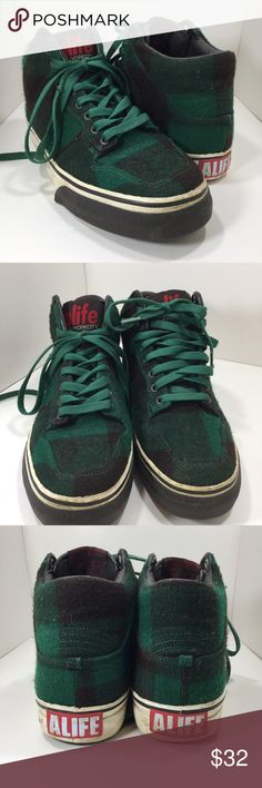 Alife Shoes Everybody High Lumberjack Hunter Green Alife Everybody High Lumberjack Hunter Green Wool Sneakers Size 8.5 US Men's, EUR 42, UK 7.5 Alife Shoes Sneakers