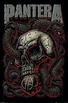 Pantera ~ Snake Eye – Classic rock music concert psychedelic poster ~ ☮~ღ~*~… Heavy Metal Bands, Arte Heavy Metal, Heavy Metal Rock, Heavy Metal Music, Power Metal, Pantera Band, Hard Rock, Dimebag Darrell, Rock Posters