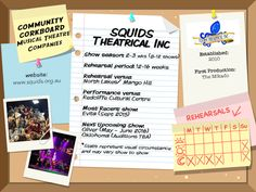 SQUIDS Theatrical Inc - Community Corkboard interview on amywinner.com Musical Theatre Shows, Saturday Night Show, Theatre Auditions, Theatre Group, Educational Programs, Sound Of Music, Musicals, Encouragement, Interview