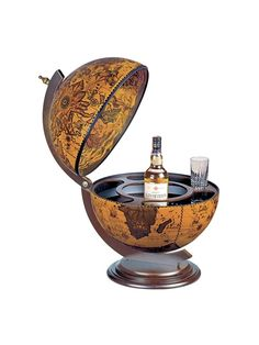 Globe Drinks Cabinet Desk Classic