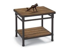 Shop for Flexsteel End Table, 6640-01, and other Living Room Tables at Bartlett Home Furnishings in Memphis, Tennessee 38134. Weathered and worn plank surfaces simulate the ruggedness of industrial design. Steel bases are finished to a rugged charcoal patina.
