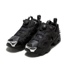 aeb14705f886 sneaker instapump fury og halloween-sneaker reebok modello instapump fury  og della serie halloween con tomaia in pelle e canvas. borchie in metallo a  punta ...