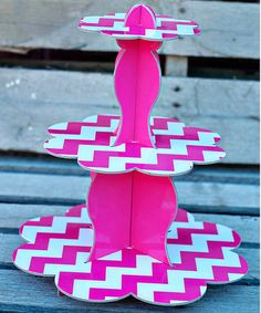 Hot Pink Three-Tier Cupcake Stand by Expect Personality on #zulily