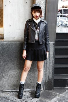 FASHION » girls snap TOKYO Vol.1 - NYLON.JP Tokyo, Girl Fashion, Punk, Street Style, Style Inspiration, Girls, Outfits, Women's Work Fashion, Urban Style