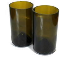 Recycled Wine Bottle Bottom Drinking Glasses Tumblers - Set of 2