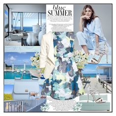 """Blue Summer !"" by fantasy-rose ❤ liked on Polyvore featuring Joybird Furniture, Aquazzura, Erdem, Dolce&Gabbana, H&M, blueandwhite, dolceandgabbana and summerstyle"