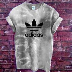 Authentic Unisex Adidas originals Trefoil tie dye Rain Cloud Tee - S