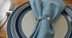 I have never been a napkin ring kind of person. I have always preferred to just eat as neatly as I can and use a paper towel (or my . Beaded Napkin Rings, Bedding Shop, Playing Dress Up, Make It Simple, Napkins, Asheville, Beads, Lisa, Card Ideas