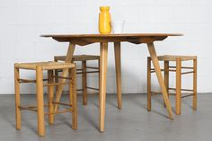 "Ercol ""Plank"" Beech Dining Table"