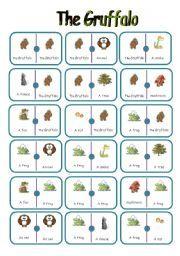 English teaching worksheets: The Gruffalo Gruffalo Eyfs, Gruffalo Activities, The Gruffalo, Book Activities, Preschool Activities, Gruffalo's Child, Rhyming Words, Reading Worksheets, Author Studies