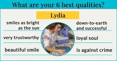 What are your 6 best qualities?