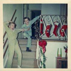 Christmas morning, 1950s