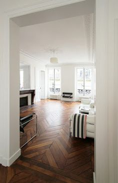 LOVE this flooring!! #herringbone