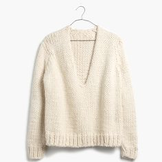 Anaak™ Handknit V-Neck Sweater : sweaters | Madewell