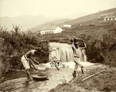 Lavagem do ouro, Minas Gerais, Brasil, 1880. (Foto: Marc Ferrez/Acervo Instituto Moreira Salles)