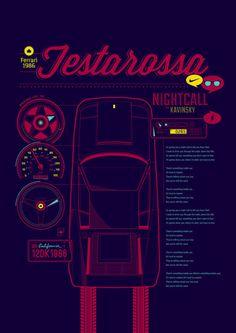 Ferrari Testarossa infographic