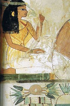 Fresco Excavated from the Tomb of Nakht  (astronomer, priest & scribe of Thutmose IV)  --  15th Century BCE  --  Dynasty 18  --  Egypt, Thebes  --  Belonging to the Museum of Egyptian Antiquities in Cairo.