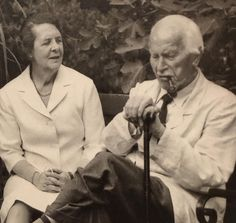 Carl Jung With Ruth Bailey, who cared for him after his wife Emma's death in 1955