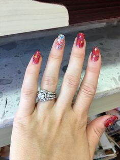 Memorial Day Nails.... Memorial Day, My Nails, Engagement Rings, Jewelry, Rings For Engagement, Wedding Rings, Jewlery, Jewels, Commitment Rings