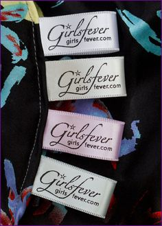 personalized tags labels for clothes | 300 Personalized satin ribbons clothing labels fabric labels with 4 ...