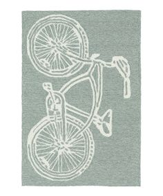 Another great find on #zulily! Gray Bicycle Indoor/Outdoor Rug #zulilyfinds