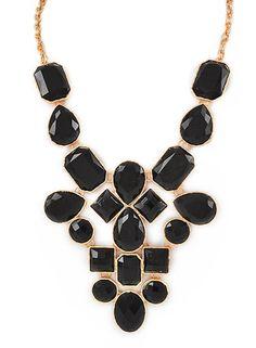Black Jewel Statement Necklace – Modeets