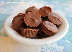 Homemade Reese's Peanut Butter Cups! SERIOUSLY good!