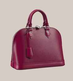 Discover Louis Vuitton Alma PM: The most structured of the iconic Louis Vuitton… Alma Louis Vuitton, Louis Vuitton Online, Louis Vuitton Satchel, Vuitton Bag, Louis Vuitton Handbags, Purses And Handbags, Fashion Handbags, Fashion Bags, Leather Handbags