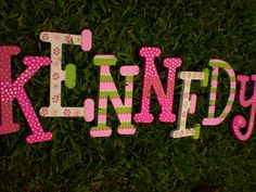 Name Wall Letters for Girls  Play Room  by HappyMooseGardenArt, $8.00