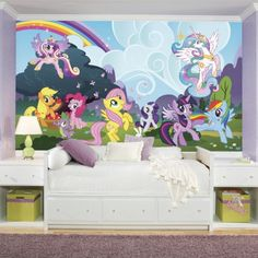 """RoomMates """"My Little Pony"""" Ponyville wall mural"""
