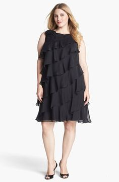 London Times Tiered Shift Dress (Plus Size)   Nordstrom
