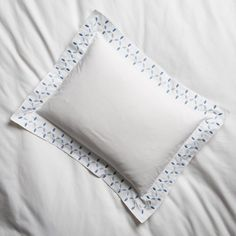 One Kings Lane Matouk For Petala Boudoir Sham - Azure/Blue White Bedroom, Floral Embroidery, Boudoir, Bed Pillows, Blue And White, Linens, Bedding, Goal, Pillows