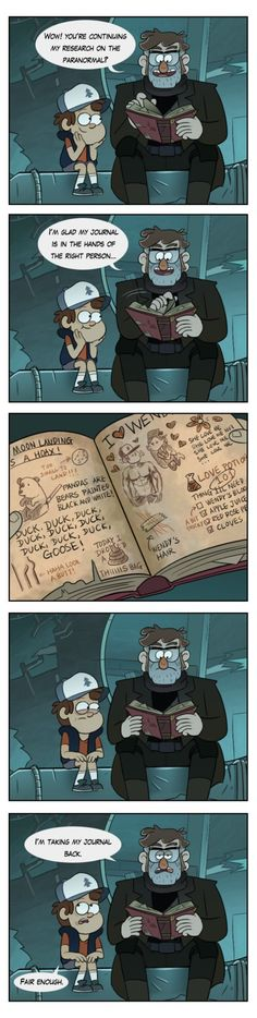 Dipper's Research by markmak on DeviantArt