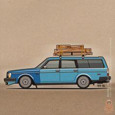 Volvo 245 Shopping Wagon ©2015 Tom Mayer, Monkey Crisis On Mars