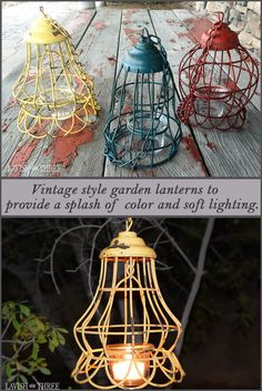 As the weather invites and friends anticipate gathering for an evening of conversation and laughter, this vintage style garden lantern will provide that splash of color and soft lighting to illuminate