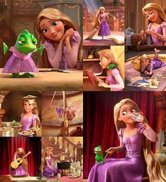 """Tangled! Tim always says """"Oh! They made a character like you!"""" When she sings this song."""