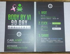 Just got my new ViSalus business cards for the 90 day Body by Vi Challenge & I love them!