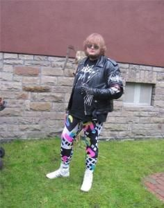 It Was The Best of Times, It Was The Worst of Times... In This Picture: Photo of a rocker dude with 80s leggings