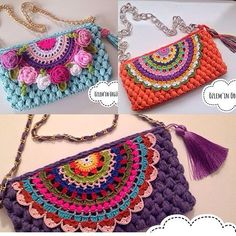 Crochet Cowel - Cotton Slipper with Flip Flop Soles Crochet Wallet, Bag Crochet, Crochet Purse Patterns, Crochet Dollies, Crochet Tools, Crochet Shell Stitch, Crochet Clutch, Crochet Handbags, Crochet Purses