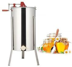 Premium quality – made of high grade 201 steel, durable and easy to clean Solid structure – two frame structure and high precision bearing Easy-to-drain honey… Honey Extractor, Stainless Steel Drum, Honey Label, Easy Frame, Best Honey, Local Honey, Look Good Feel Good, Green Lawn, Bee