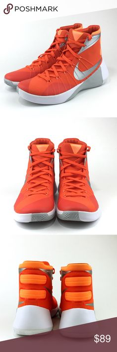 Nike Hyperdunk 2015 Men's Basketball Sneaker NWOB Nike Hyperdunk 2015 Basketball Sneaker, Men's US 10,  Org Blz/Brt Cit/Wht/Met Slv, 749645-808.   The Nike Hyperdunk 2015 (Team) Men's Basketball Shoe offers responsive cushioning and natural mobility for superior stability and quick changes of direction. The rubber outsole, featuring a herringbone pattern for traction, is ideal for outdoor courts.  Lightweight, durable Hyperfuse upper for flexibility and support, internal bootie and dynamic…