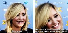 Demi about how Lea's doing. (Excited to see Demi on the show.)