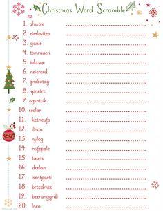 20 Free Printable Christmas Games