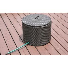 Savannah Outdoor All-weather Resin Garden Hose Storage Basket